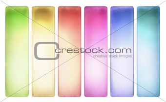 Candy color textured banner set