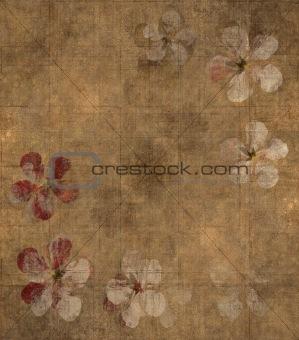 Grungy petal parchment background