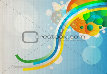 Abstract colorful background in vintage retro style