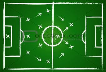 Football teamwork strategy