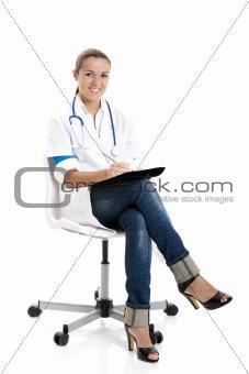 Beautiful nurse student