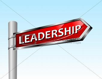 Arrow road sign leadership