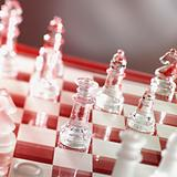 chess game in warm red