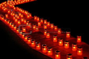 Candles diagonal