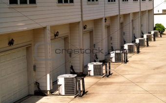 town houses with air conditioning units