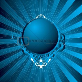 modern shield blue