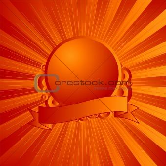 modern shield orange