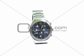 Chronograph watch isolated on white