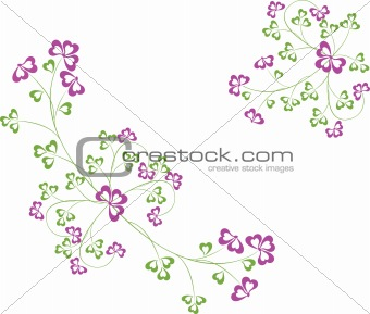 Abstract floral art vector illustration