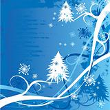 Grunge christmas winter background, vector