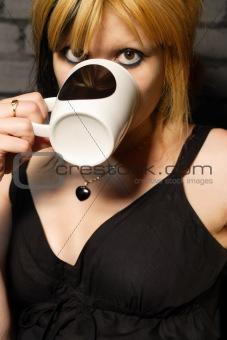 Drinking coffee 2