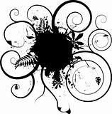 floral ink splat