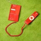 Telephone on floor.