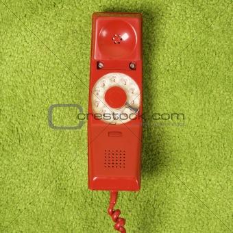 Telephone on floor.