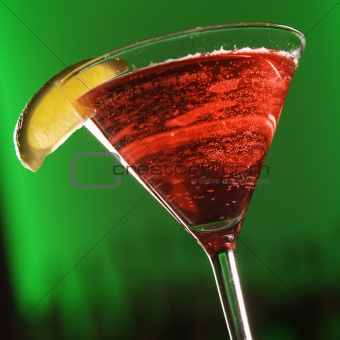 Martini mixed drink.