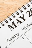 May on calendar.