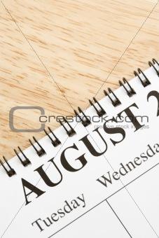 August on calendar.