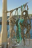 Ropes on Boat Deck