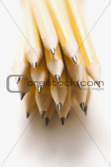 Group of sharp pencils.