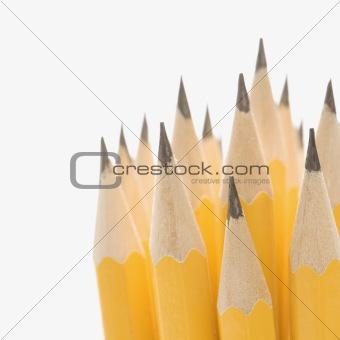 Group of sharp pencils.
