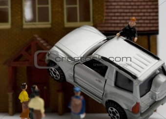 Car accident in miniature