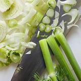 Knife with fennel.
