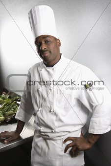 Portrait of chef.