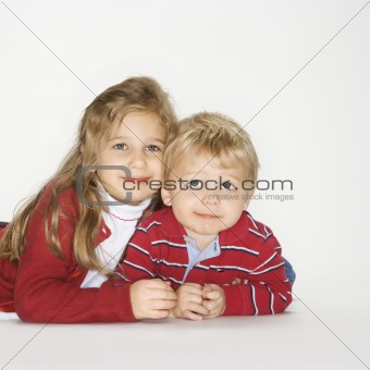 Boy and girl portrait.