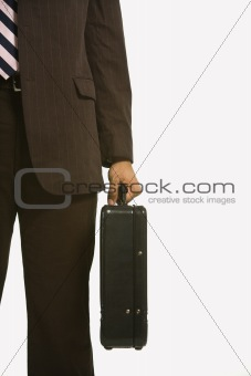 Businessman with briefcase.