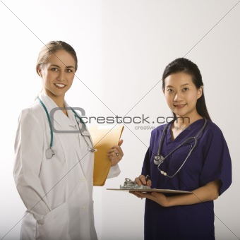 Female doctors.