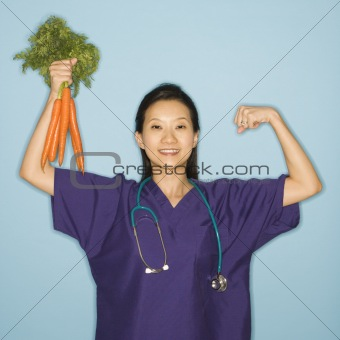 Doctor and carrots.