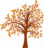 Autumn tree, vector illustration