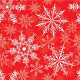 Seamless snowflakes pattern, vector