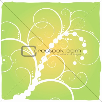 abstract floral green