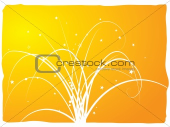 abstract floral spray