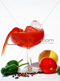 Chilled Blood Mary - Vegetable Juice