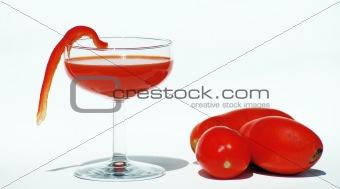 Blood Mary - Vegetable Juice  Isolated