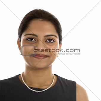 Portrait of Indian woman.
