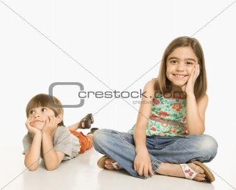 Portrait of children.