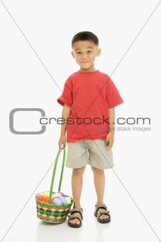 Boy with Easter basket.