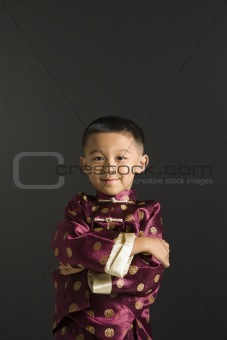 Portrait of Asian boy.