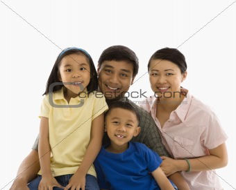 Asian family portrait.