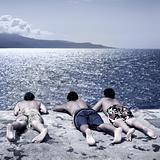 Boys looking at the sea