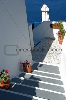 Greek hotel reception