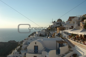 Oia view before sunset