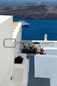 Greek hotel in Santorini