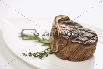 Grilled beef tenderloin.