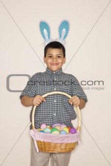 Boy celebrating Easter.