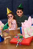Kids having birthday party.