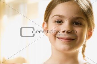 Caucasian girl portrait.